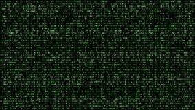 Abstract binary matrix alphabet green royalty free illustration