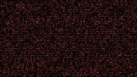 Abstract binary matrix alphabet red stock illustration