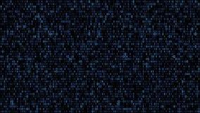 Abstract binary matrix code blue royalty free illustration