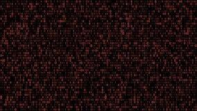 Abstract binary matrix code red vector illustration