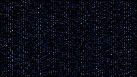 Abstract binary matrix falling alphabet blue vector illustration