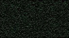 Abstract binary matrix falling alphabet green royalty free illustration