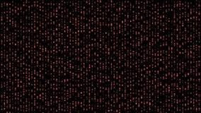 Abstract binary matrix falling alphabet red stock illustration