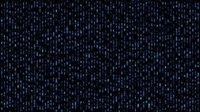 Abstract binary matrix falling code blue royalty free illustration