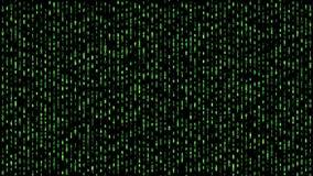 Abstract binary matrix falling code green stock illustration