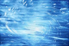 Abstract binary numbers code motion background. Binary numbers on abstract shiny light motion blurred background. Conceptual computer virus and artificial Royalty Free Stock Image