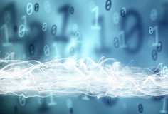 Abstract binary numbers data background Stock Photos