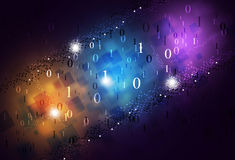 Abstract Binary Numbers Multicolor Background Stock Image