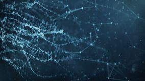 Abstract Motion Background - Digital Binary Plexus Data Networks. Abstract binary plexus nodes connections form network. For visuals vj internet presentations stock footage