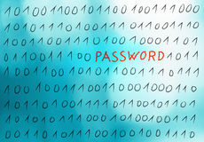 Abstract binary system password illustration Stock Photo