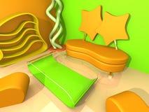 Abstract Binnenland vector illustratie