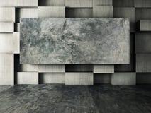 Abstract binnenland van concrete muurachtergrond Stock Fotografie