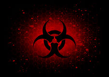 Abstract  biohazard symbol dark red background Stock Photography