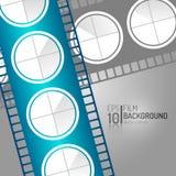 Abstract Bioskoopontwerp Als achtergrond Het winkelen markeringen en pictogrammen Minimale Filmillustratie EPS10 Stock Afbeelding