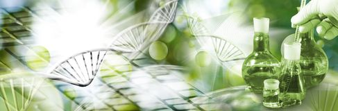 Abstract biotechnological image Royalty Free Stock Photo