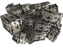 Abstract birch briquettes, firewood 3D Stock Photography