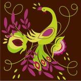 Abstract bird. Folk drawing: colorful bright farytale bird design - vector illustration Stock Illustration