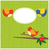 Abstract bird. cute frame. Design. vector illustration Stock Images