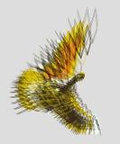 Abstract bird flying Stock Photo