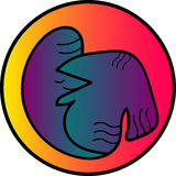 Abstract bird logo. Beautiful bird Stock Photo