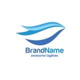 Abstract Bird logo vector. Creative abstract Bird logo. Dove logo, Abstract blue bird logo Royalty Free Stock Photos