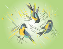 Abstract birds Royalty Free Stock Images
