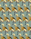 Abstract birds background, fashion seamless pattern, vector wallpaper. Vintage fabric, creative graphic shadoof ornaments royalty free illustration
