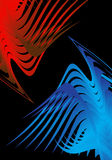 Abstract birds fighting. Abstract art made of curvy compound shapes that looks like two birds fighting Royalty Free Stock Images