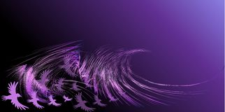 Abstract birds. Silhouette of a birds in flight with a wide wingspan Stock Photos