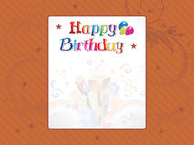Abstract birthday background Stock Photos