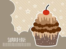 Abstract birthday background with cake Royalty Free Stock Photography