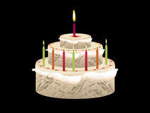 Abstract birthday cake Stock Photo