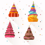 Abstract Birthday Cakes. Vector Illustration of Abstract Birthday Cakes royalty free illustration