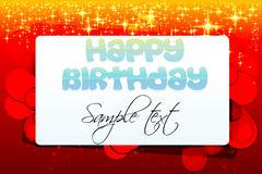 Abstract birthday card Stock Photo