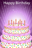 Abstract birthday card. Illustration of abstract birthday card on white background Royalty Free Stock Photos