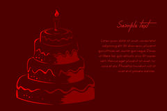 Abstract  birthday card. Illustration of abstract  birthday card Royalty Free Stock Photo