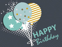 Abstract Birthday Card Royalty Free Stock Photos