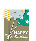 Abstract Birthday Card Stock Photography