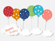 Abstract Birthday Card Royalty Free Stock Photography