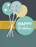 Abstract Birthday Card Stock Photo