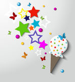 Abstract Birthday Card Stock Image