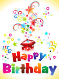 Abstract birthday card with text Stock Photos