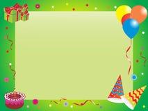 Abstract birthday frame, illustration Royalty Free Stock Photos