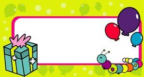 Abstract birthday vector. Abstract vector banner composition illustration Stock Photos