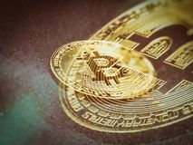Bitcoin gold coin Stock Photography