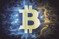 Abstract bitcoinbehang Royalty-vrije Illustratie