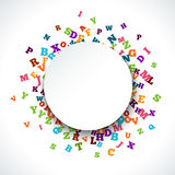 Abstract black alphabet ornament frame  on white background Royalty Free Stock Images