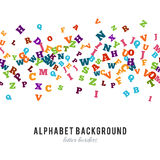 Abstract black alphabet ornament frame  on white background Stock Images