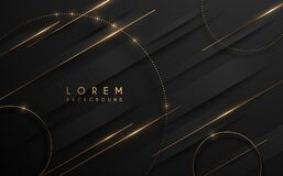 Free Abstract Black And Gold Luxury Background Royalty Free Stock Photos - 215521608