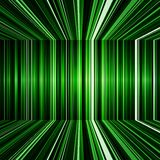 Abstract Black And Green Warped Stripes Background Stock Images